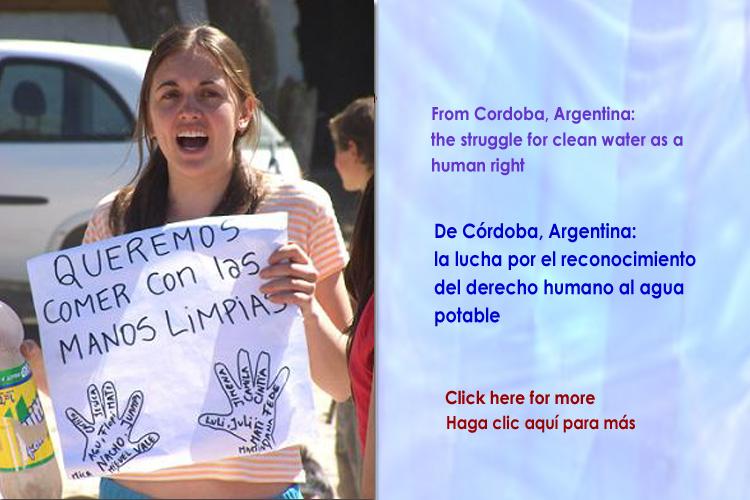 De Argentina: La lucha por el acceso al agua limpia