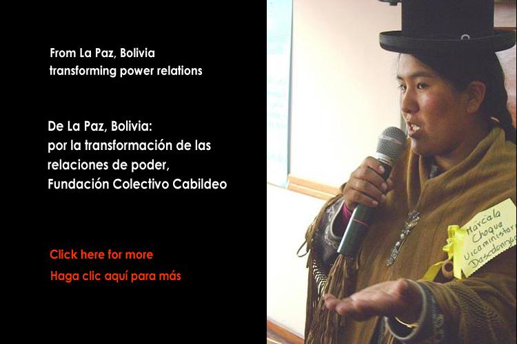 De Bolivia: Reconstruyendo prácticas políticas democráticas, interculturales y paritarias